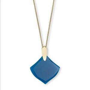 Kendra Scott Teal Agate Aislinn Necklace